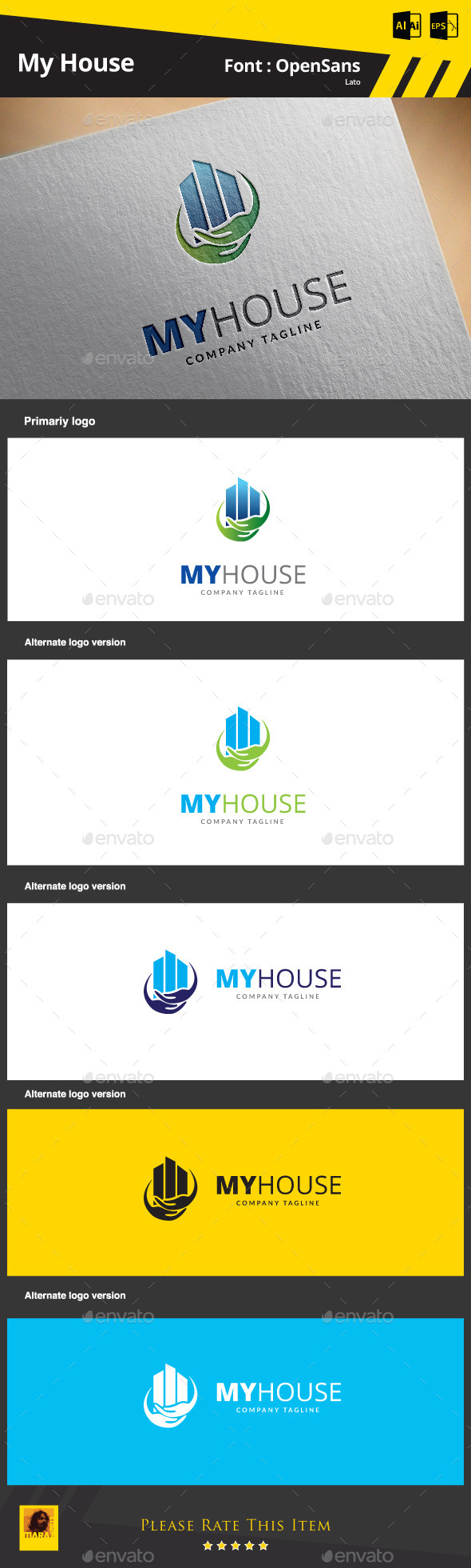 My House - Buildings Logo Templates