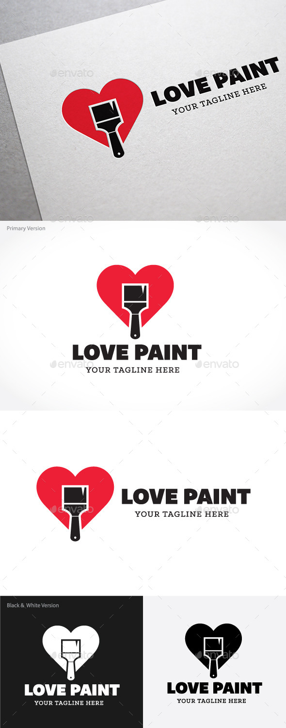 Love Paint - Buildings Logo Templates