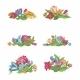 Set of Flower Vignettes