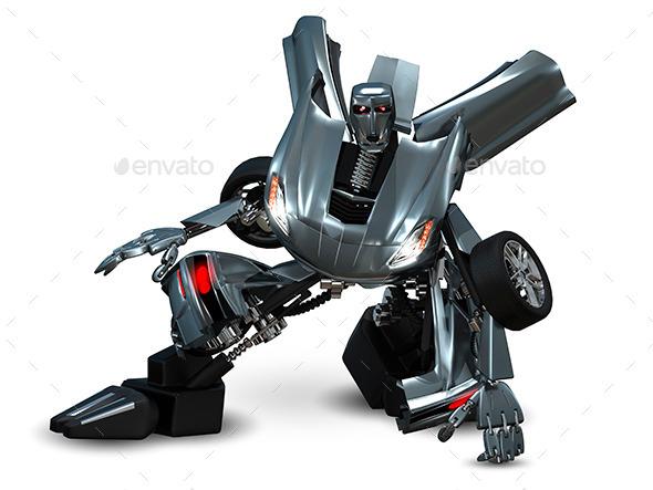 Robot Car - Technology 3D Renders