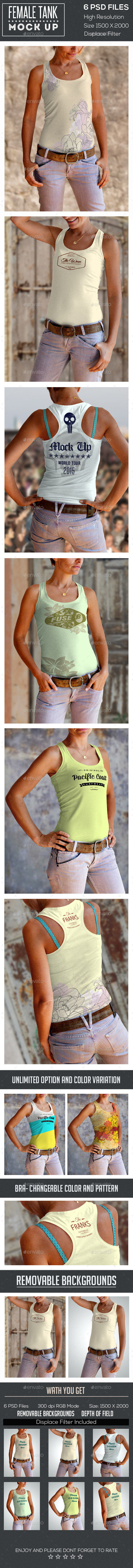 Female Tank Mock Up - T-shirts Apparel