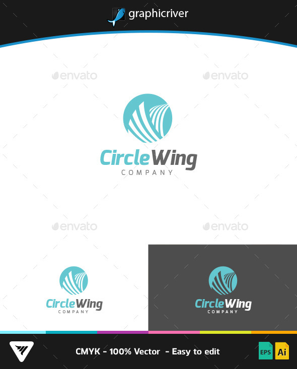 Circle Wing Logo - Logo Templates