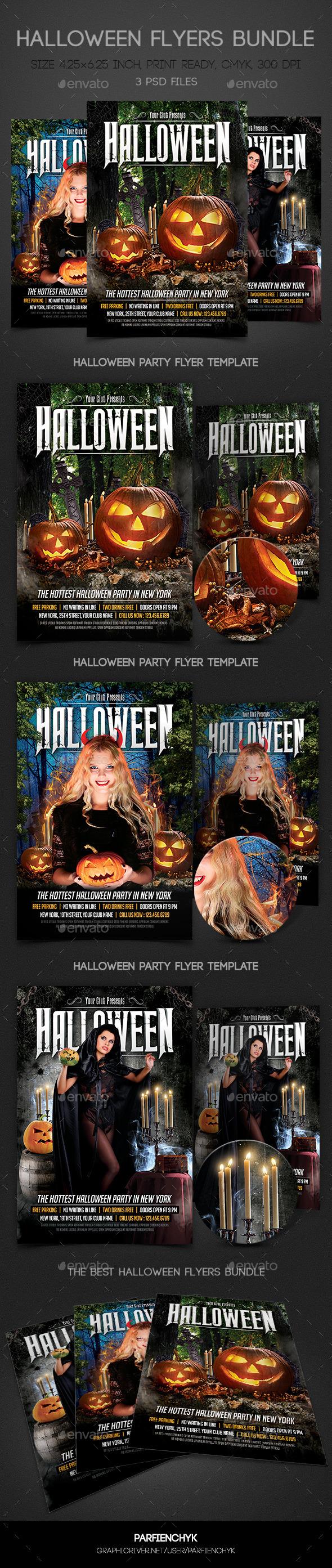 Halloween Flyers Bundle - Clubs & Parties Events