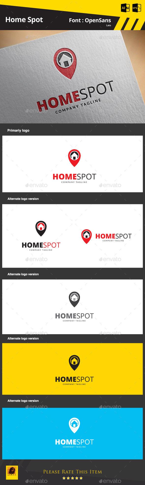 Home Spot - Buildings Logo Templates