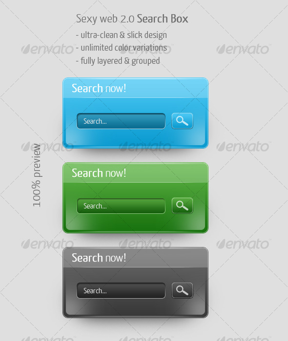 Sexy Web 2.0 Search Box , Clean & Click - Forms Web Elements