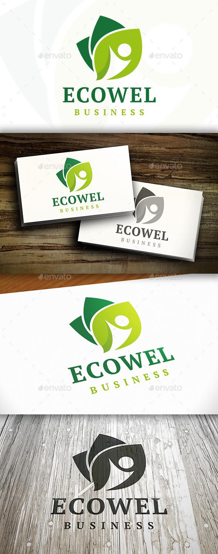 Eco Wellness Logo - Nature Logo Templates
