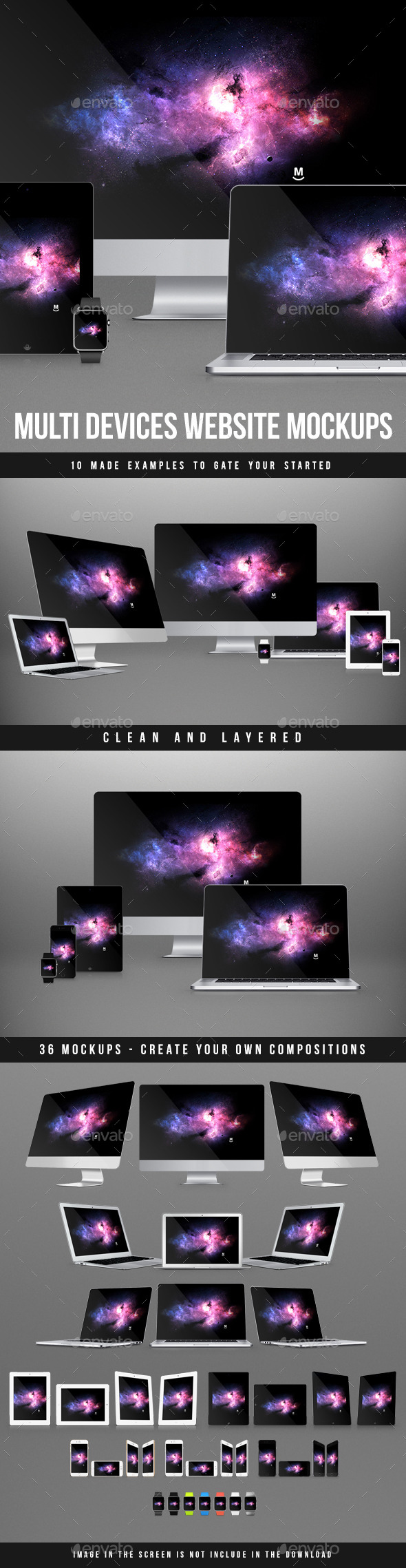 Multi Devices Website Mockups - Multiple Displays