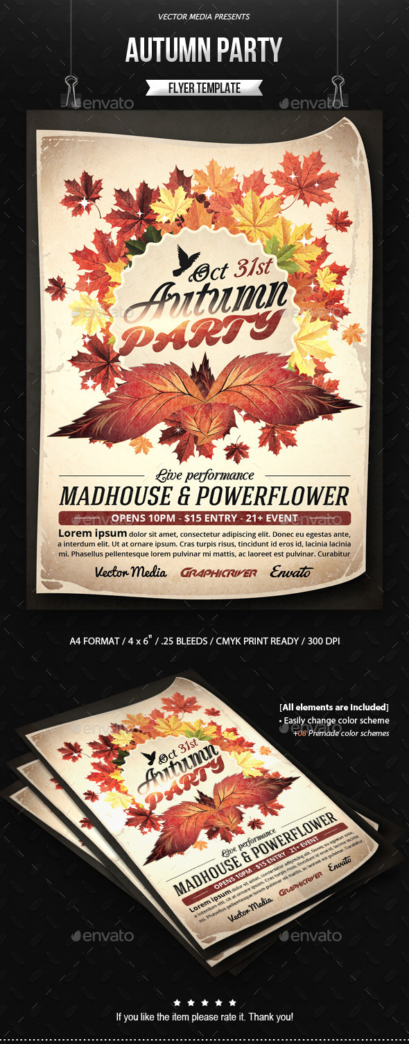 Autumn Party - Flyer - Clubs & Parties Events