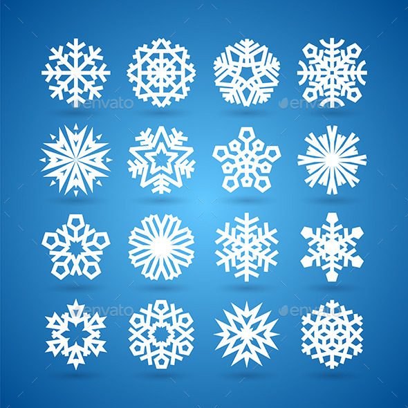 Snowflakes Set - Seasons Nature