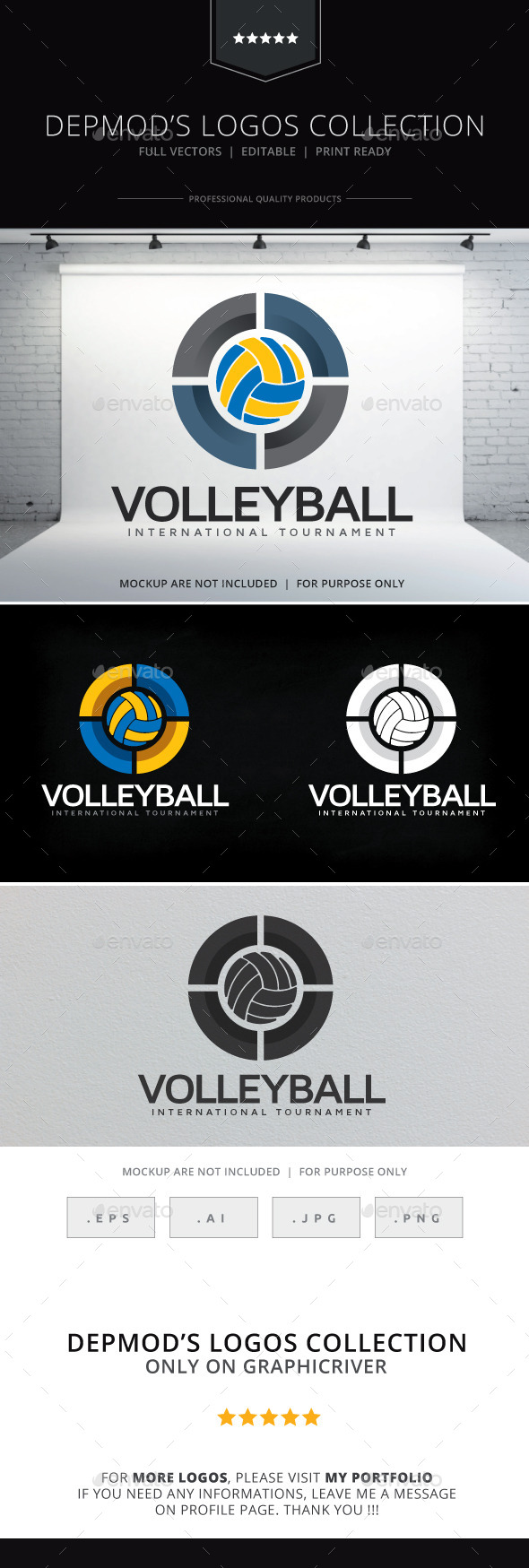 Volleyball Logo - Symbols Logo Templates