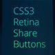 Retina Share Buttons - CodeCanyon Item for Sale