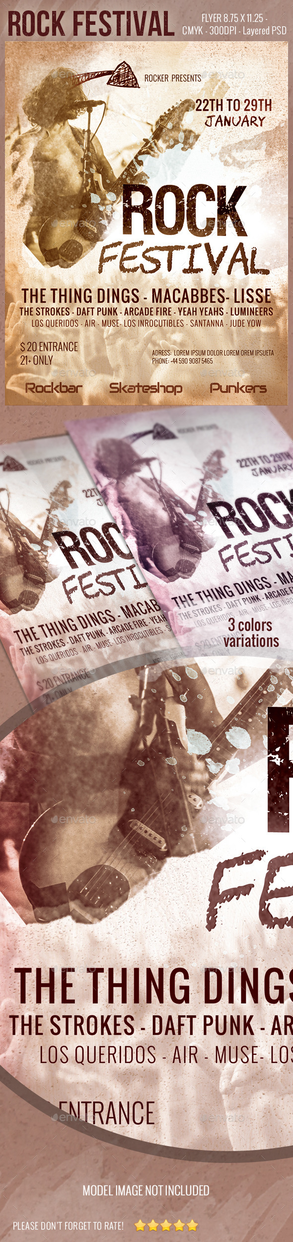 Rock Festival Flyer - Concerts Events