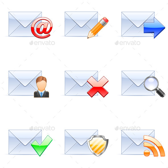 E-mail Icons - Communications Technology