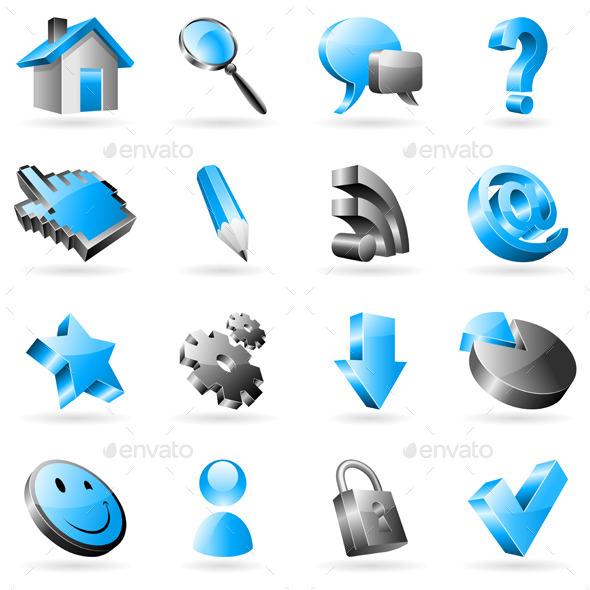 Web Icons - Web Elements Vectors