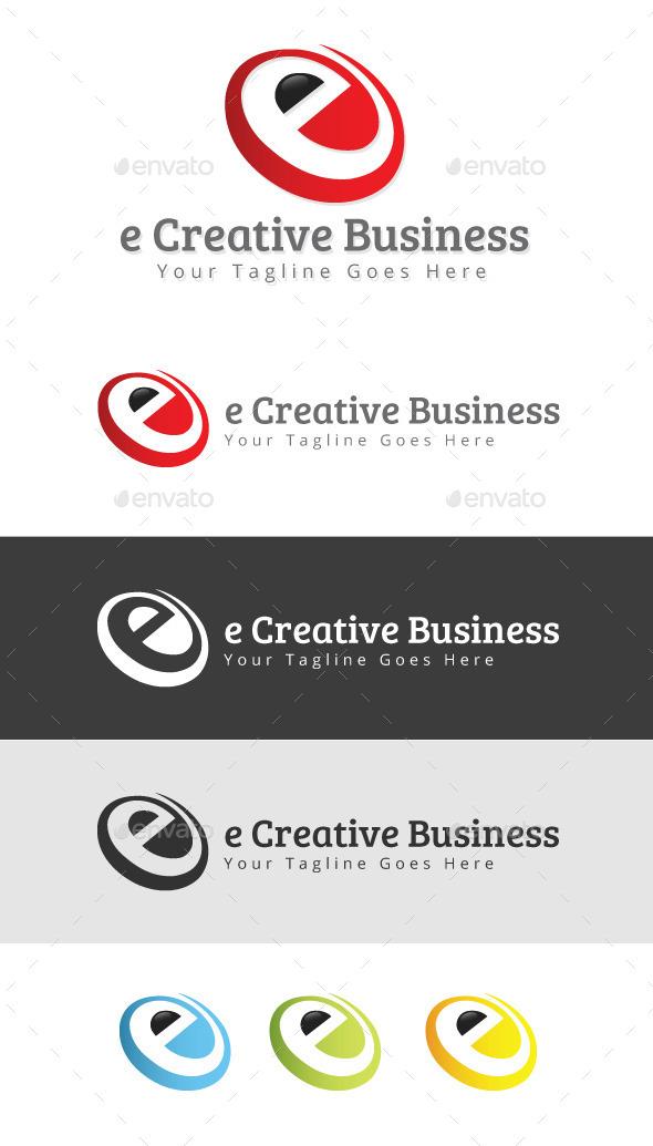 e Creative Business Logo - Letters Logo Templates