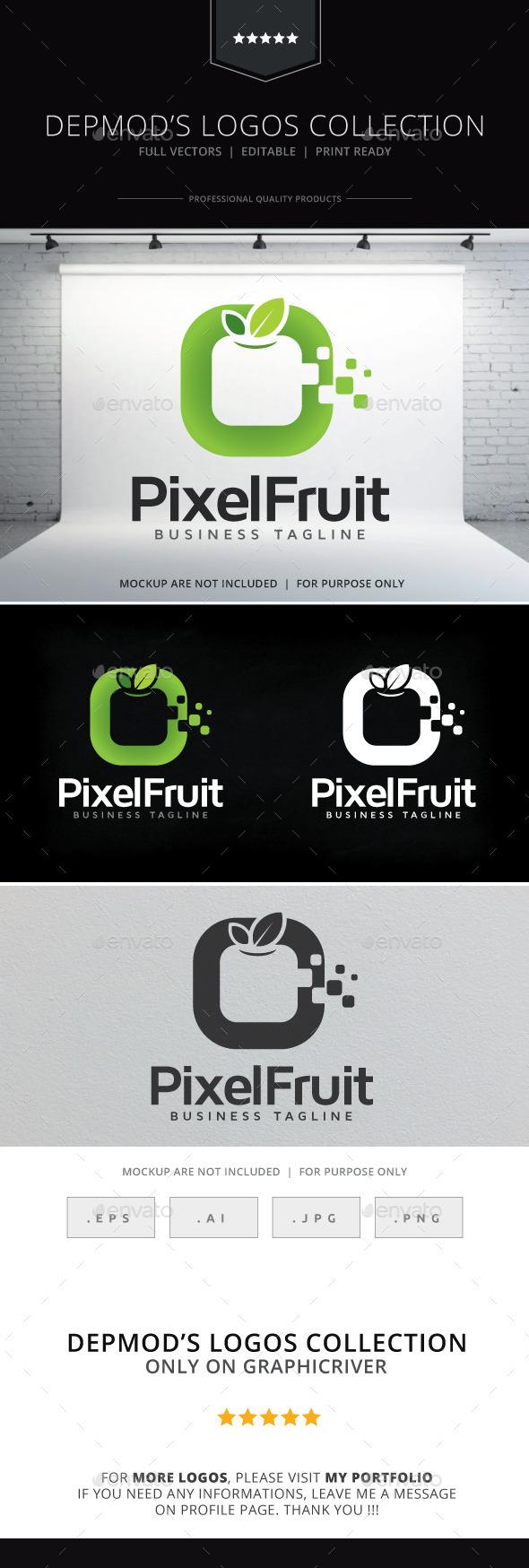 Pixel Fruit Logo - Symbols Logo Templates