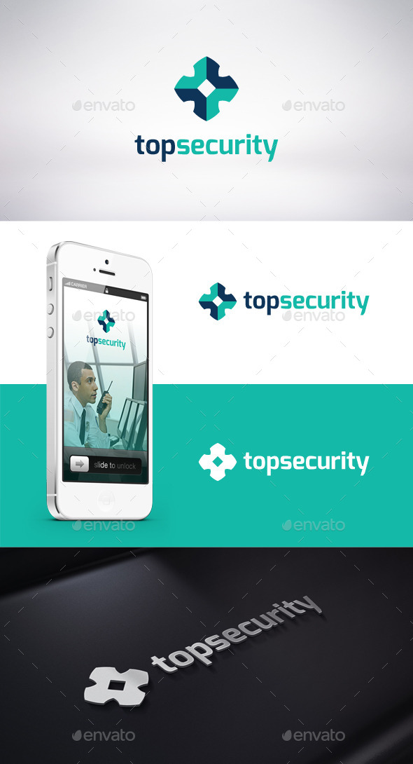 Top Security Logo Template