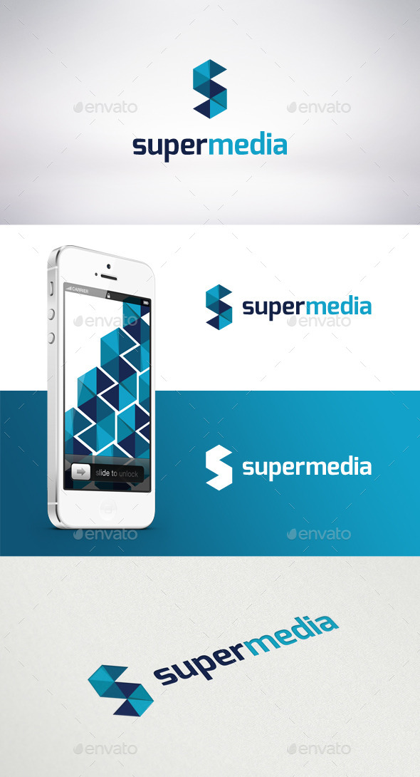Super Media Logo Template - Letters Logo Templates