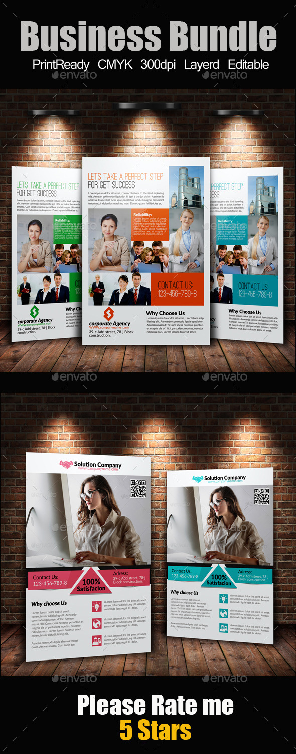 A4 Business Flyers Bundle - Corporate Flyers