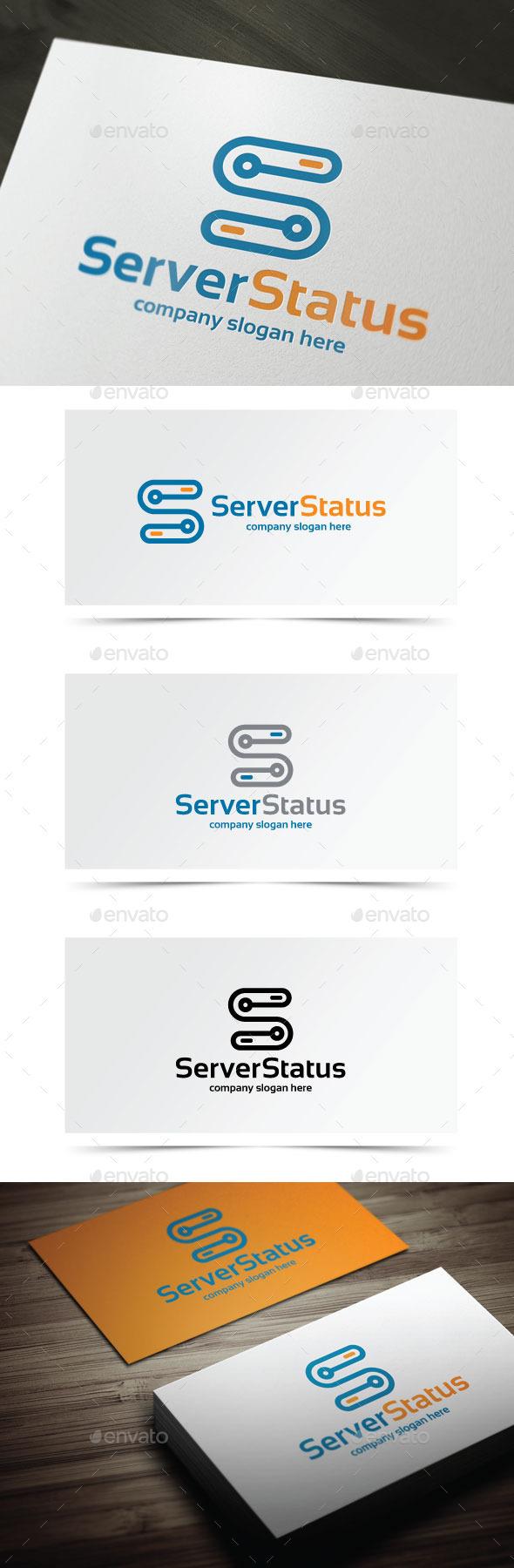Server Status - Letters Logo Templates