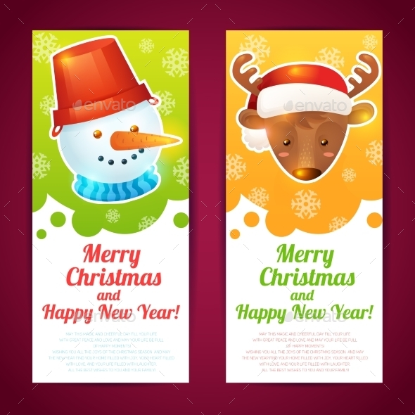 Vertical Christmas Banner  - New Year Seasons/Holidays