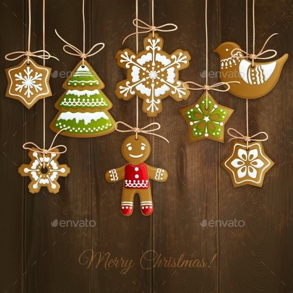 Christmas Cookies Background - Christmas Seasons/Holidays