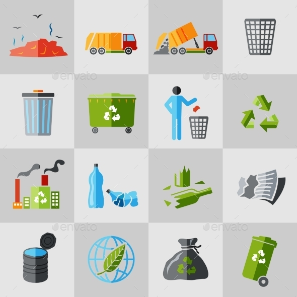 Garbage Icons - Web Technology