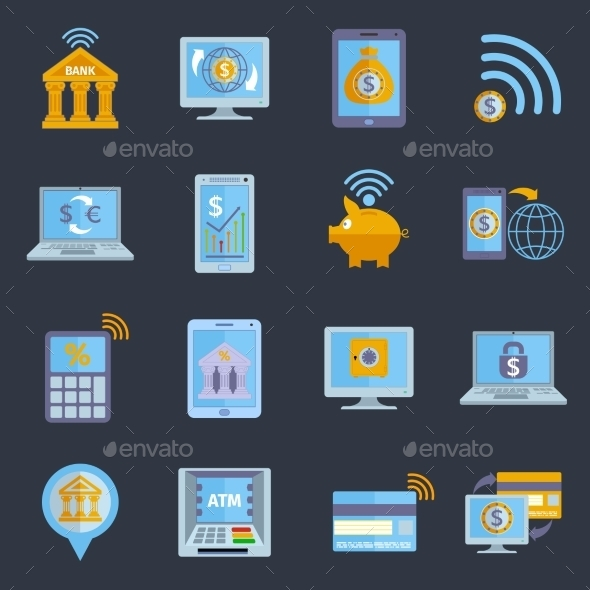 Mobile Banking Icons