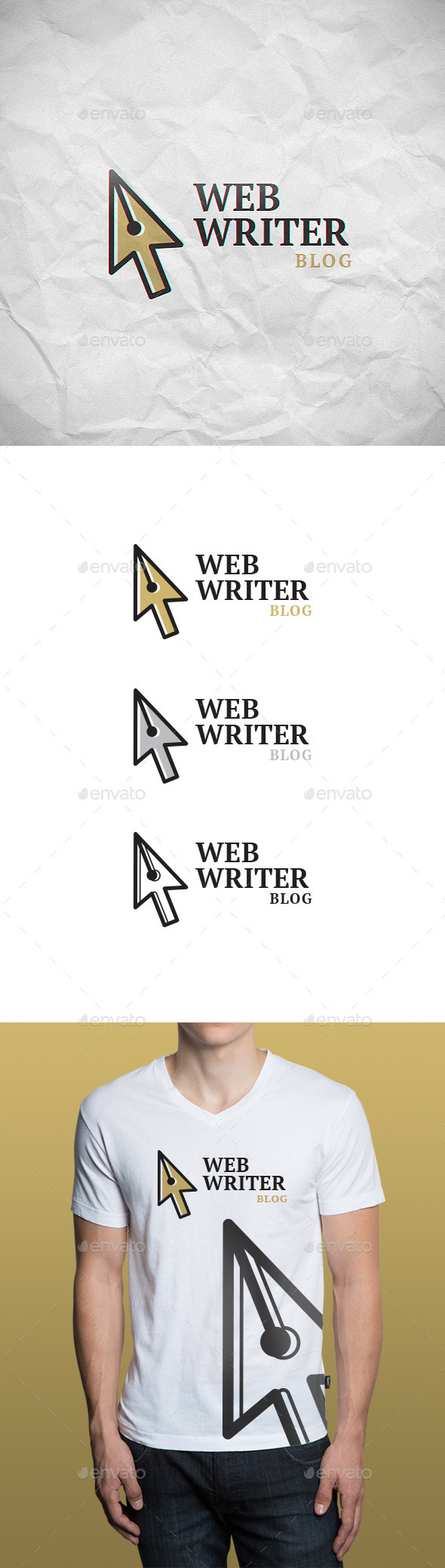 Web Writer Logo Template - Objects Logo Templates