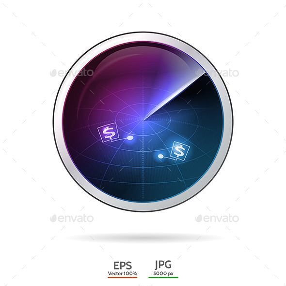 Conceptual Vector Illustration of Business Radar - Concepts Business
