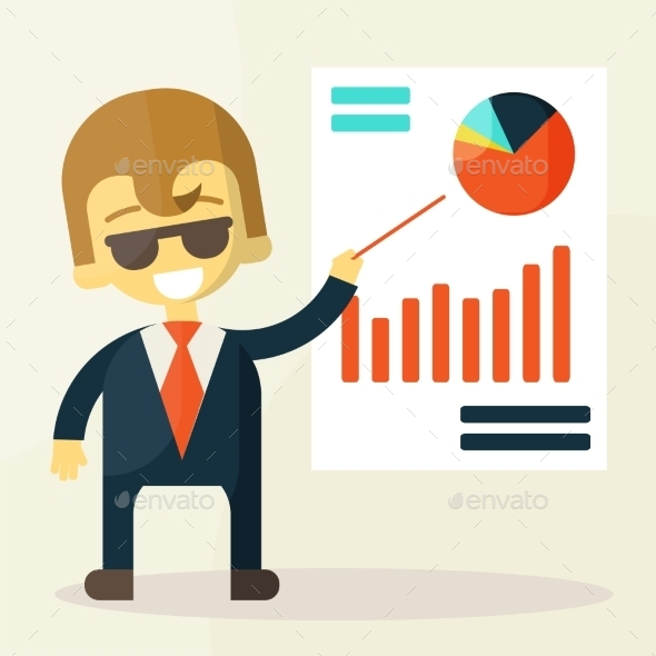 Businessman looking at the Graph - Concepts Business