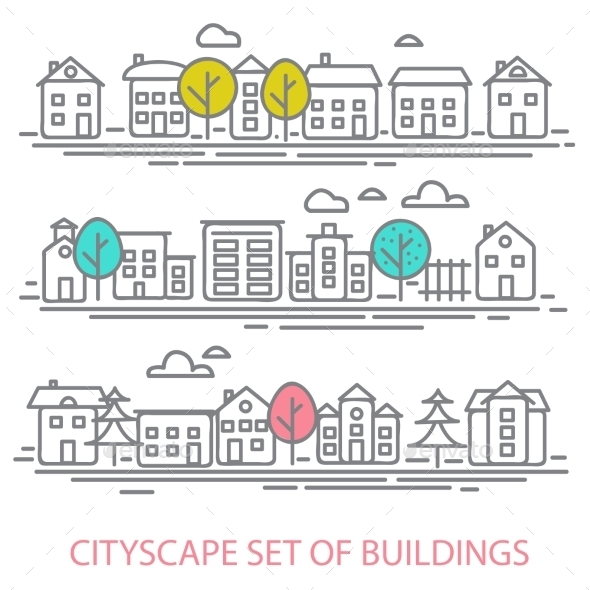 Cityscape Set - Miscellaneous Vectors