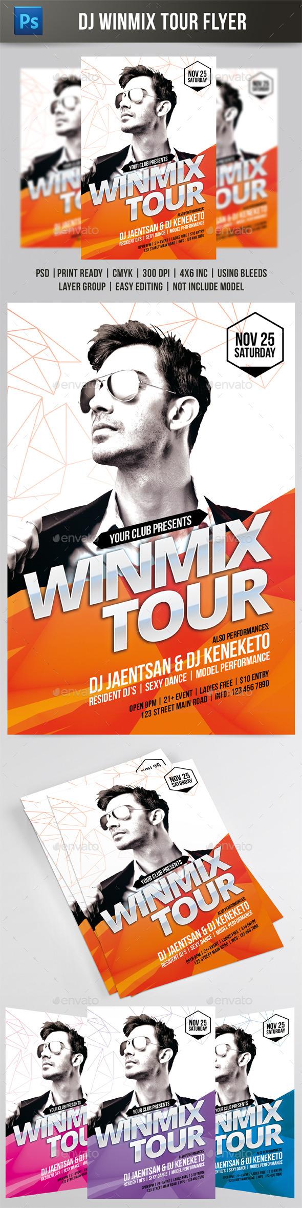 Winmix Tour Flyer - Events Flyers