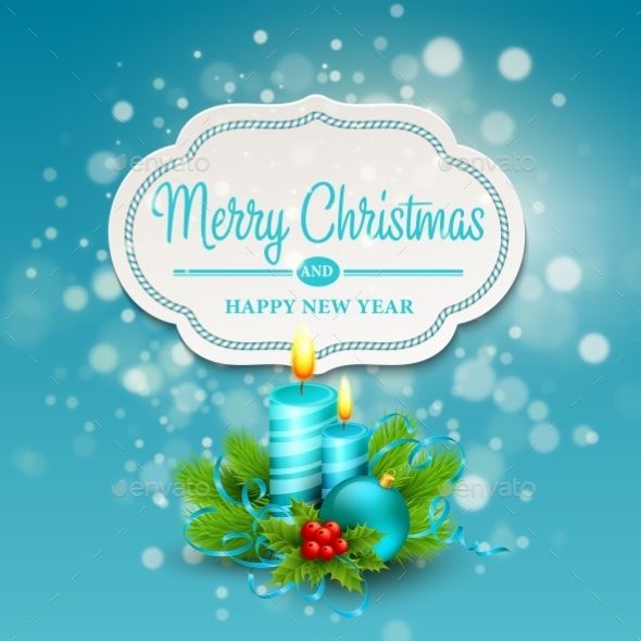 Christmas Greeting Card. Vector Illustration - Christmas Seasons/Holidays