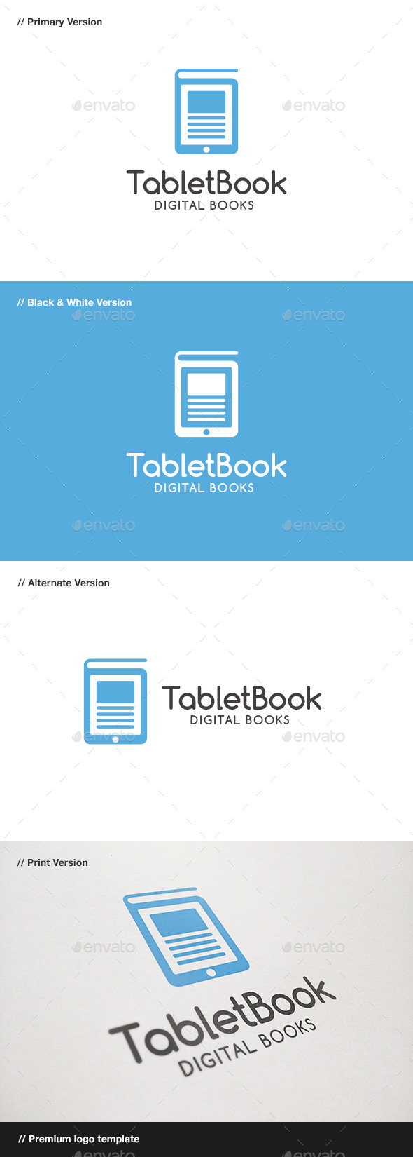 Tablet Book Logo - Objects Logo Templates