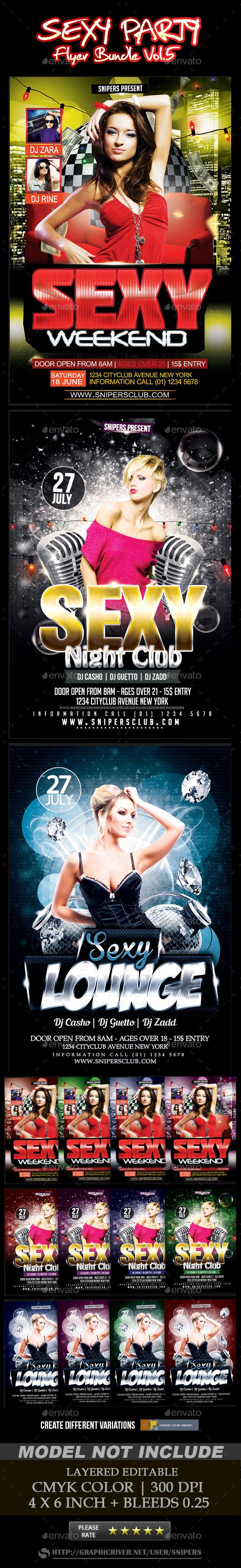 Sexy Party Flyer Bundle Vol. 5 - Events Flyers