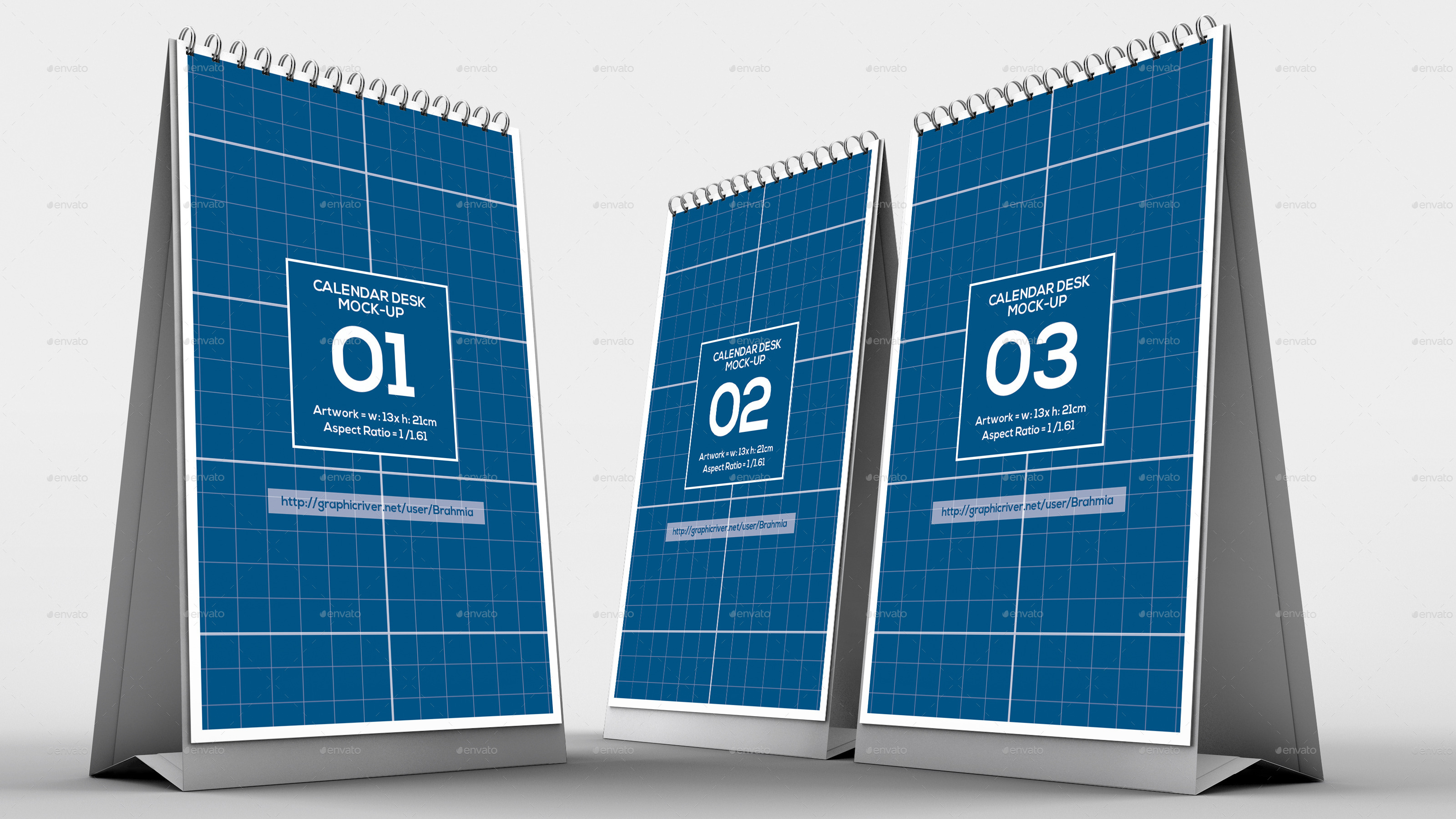 Table Calendar Mockup : Vertical calendar desk mockup by brahmia graphicriver