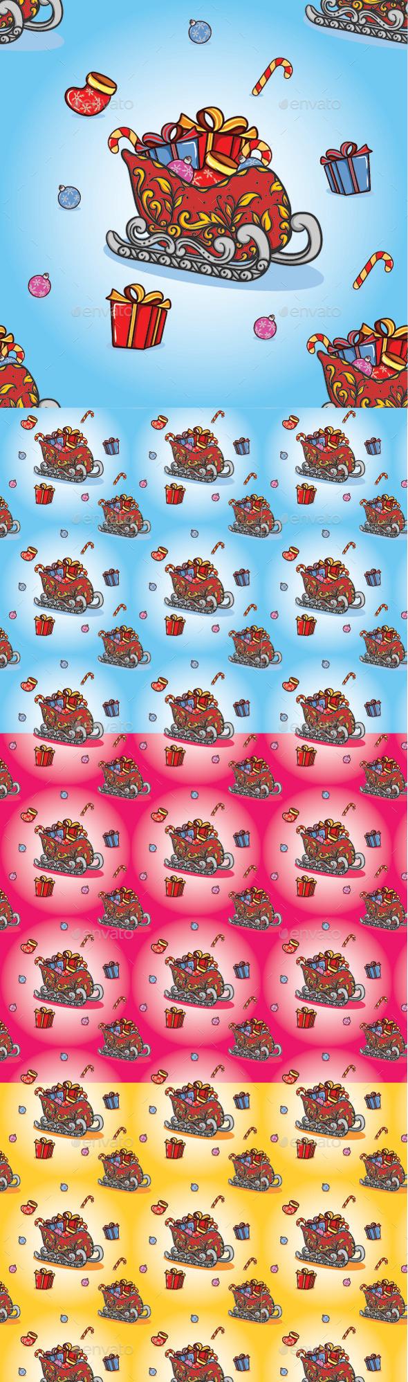 Christmas Train Pattern - Christmas Seasons/Holidays