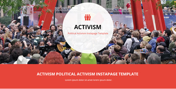 Activism - Political Activism Instapage Template - Instapage Marketing