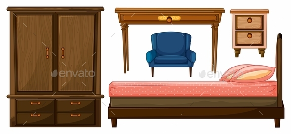 Bedroom Furniture - Man-made Objects Objects