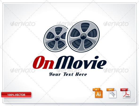 Retro Cinema Logo Template - Vector Abstract