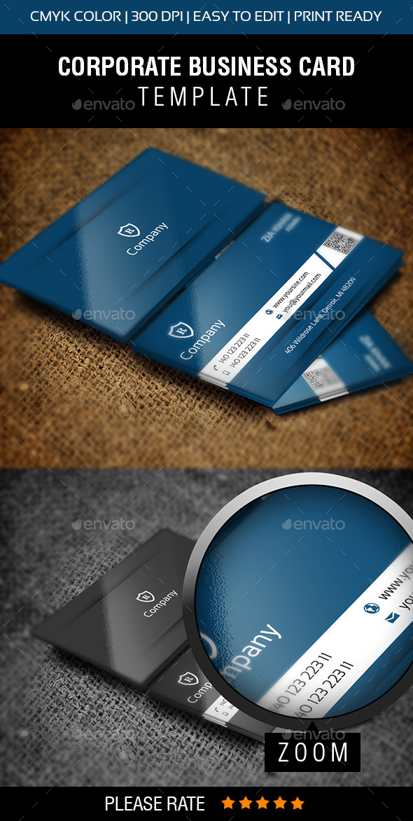 Stylish Blue Business Card - Creative Business Cards