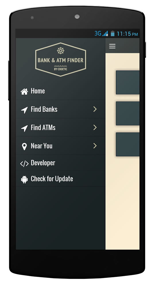 bank atm finder phonegap cordova app template by codetic