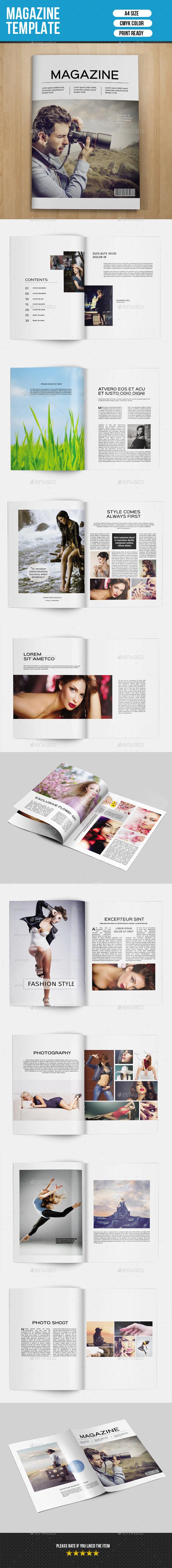 Minimal Magazine Template-V01 - Magazines Print Templates