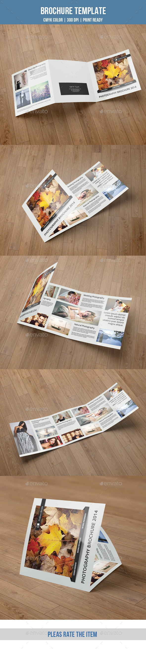 Minimal Square Trifold Photography Brochure-V44 - Corporate Brochures