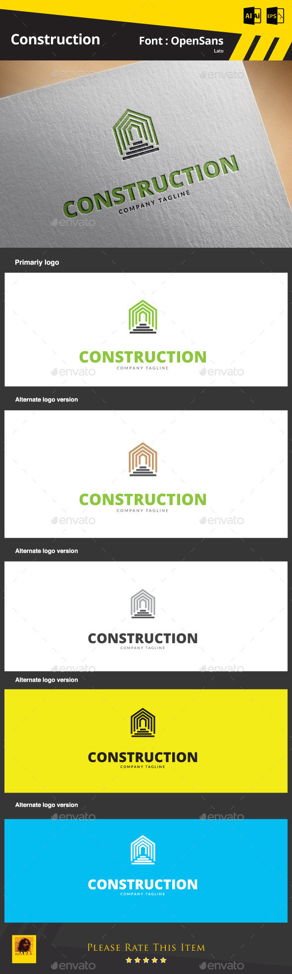 Construction Logo Template - Buildings Logo Templates
