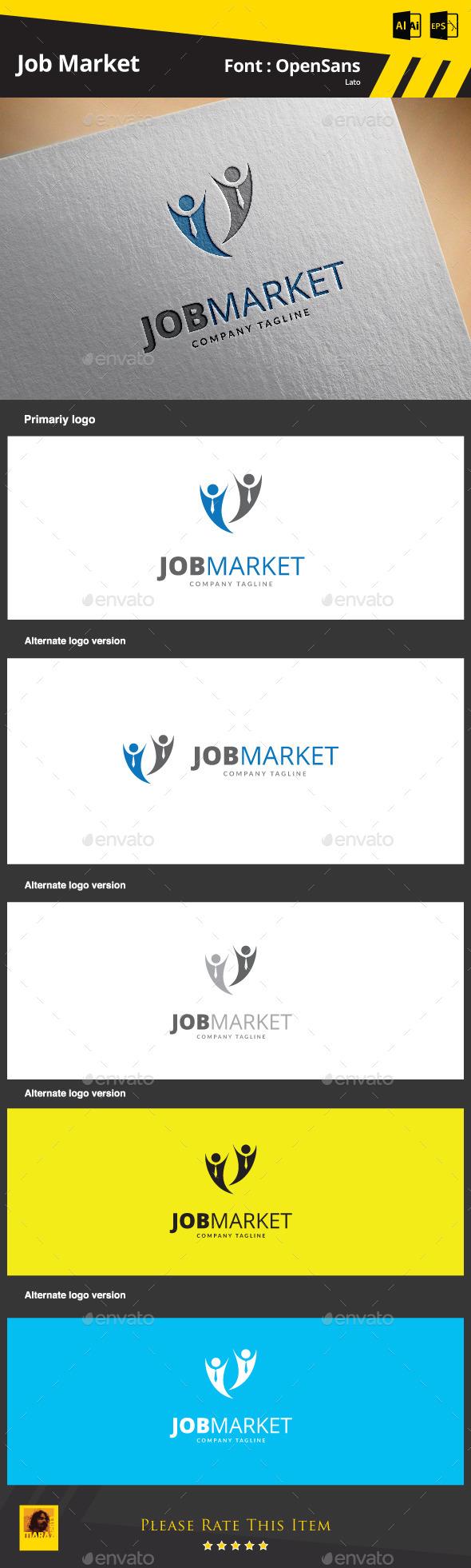 Job  Market Logo Template - Symbols Logo Templates