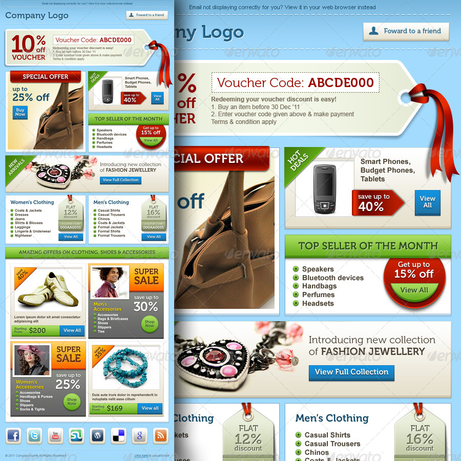E-commerce Offers Email Template Design Vol.2 by R_GENESIS ...