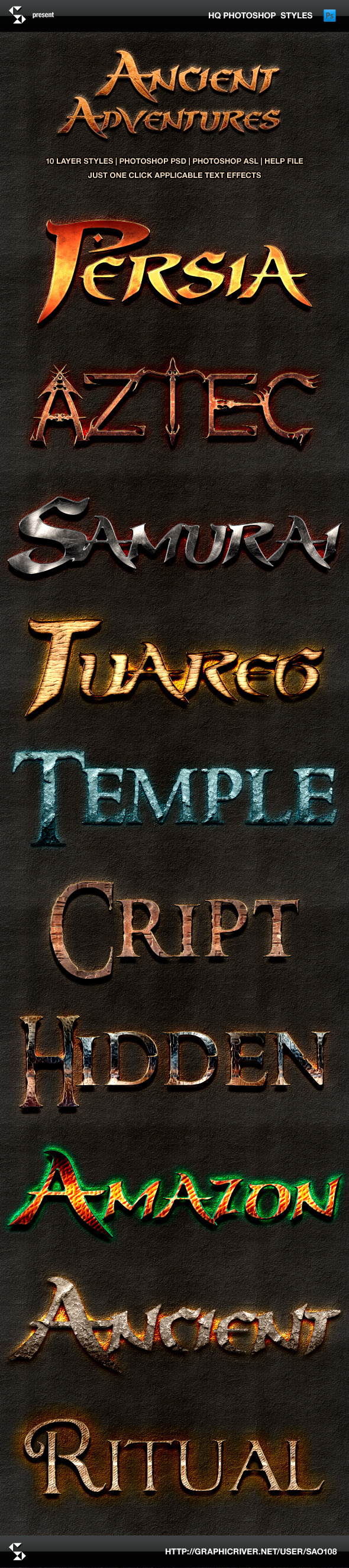 Ancient Adventures Text Effects - Text Effects Styles