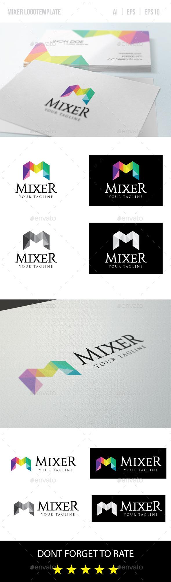 Mixer/Letter M Logo Template - Vector Abstract